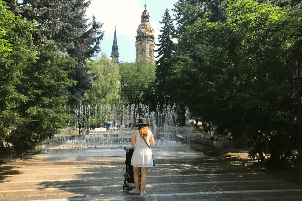 Košice Fontána a Dóm