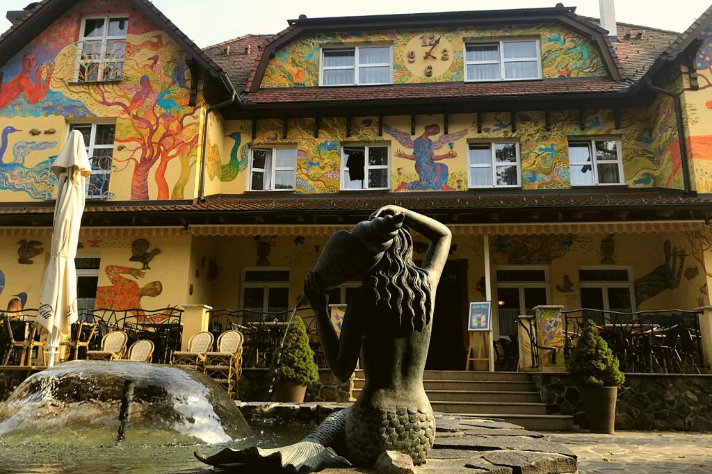 Rajecké Teplice Hotel Encián fontána