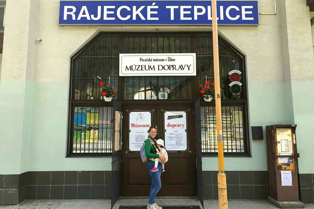 Rajecké Teplice Múzeum dopravy vstup