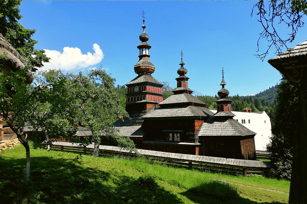 Bardejovské kúpele drevený kostolík