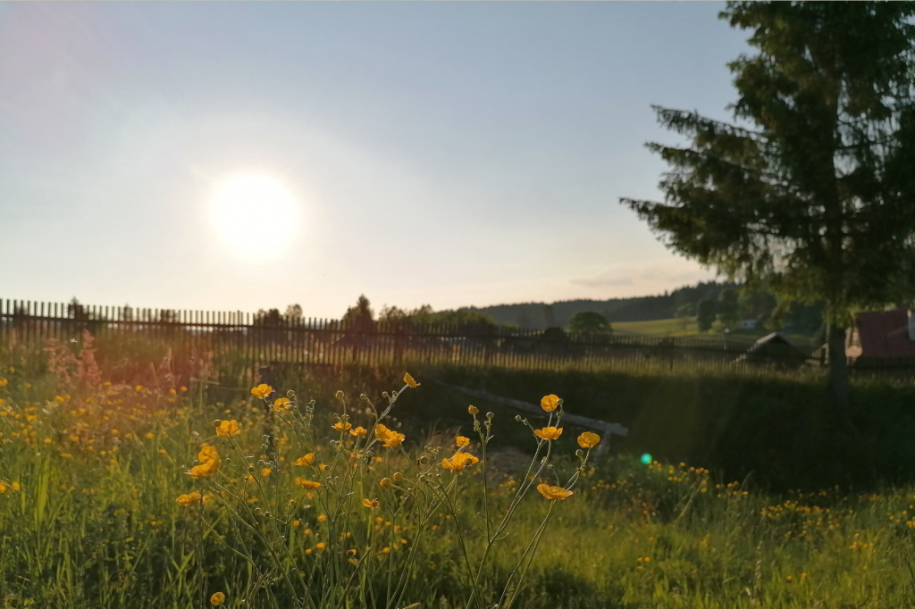 Sihla zapad slnka